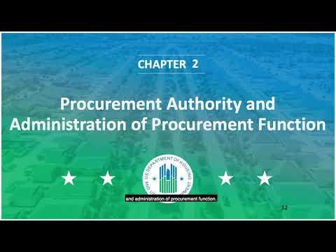 PHA Procurement Training: Chapter 2 - Procurement Authority/Admin
