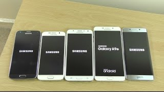 Benchmark Speed Test - Samsung Galaxy A9 VS S6 VS S6 Edge+ VS S5 Neo VS J7!