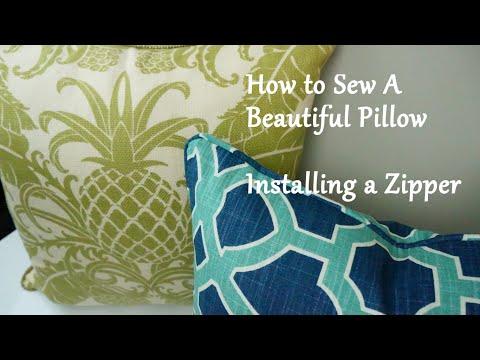 How to Sew a Pillow: Installing a Zipper