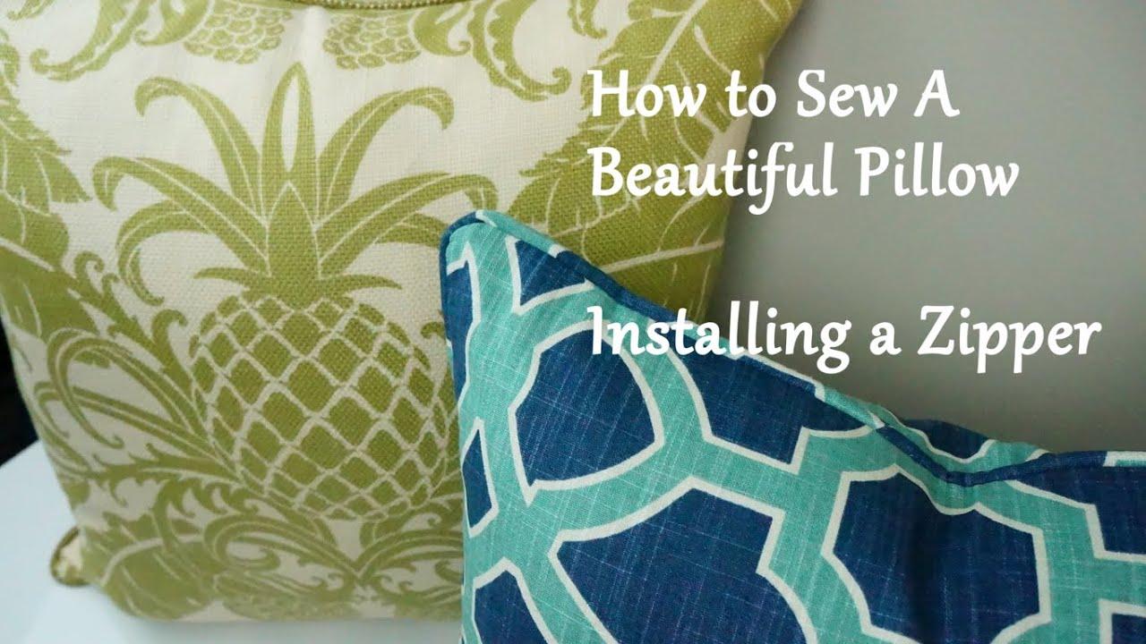 how to sew a pillow installing a zipper