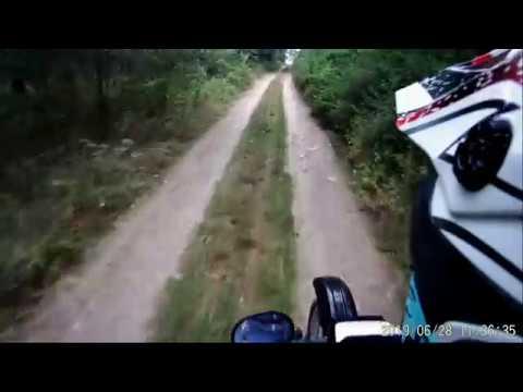 Przejażdżka na Kawasaki kmx 125 vl.3 ( Poniszowice i Pławniowice)