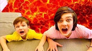Пол это лава the floor is lava и смешные истории от Андрея и Вани