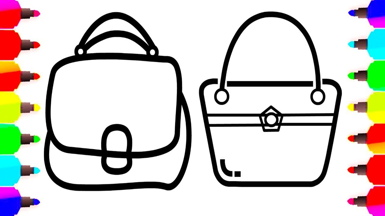 How To Draw Handbag Step By Step Coloring And Drawing Learn Color