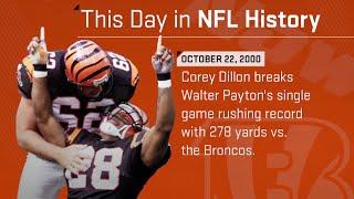 Corey Dillon Breaks Walter Payton