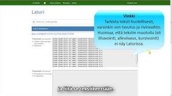 Oulun yliopiston kirjaston - Laturin opastusvideo