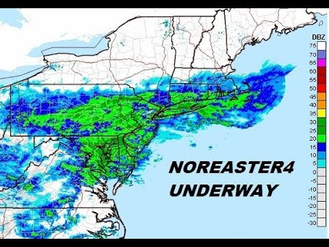 NOREASTER 4 UNDERWAY WINTER STORM WARNINGS WASHINGTON TO NYC TO BOSTON