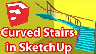 Video Curved Stairs in SketchUp | Easiest Way download MP3, 3GP, MP4, WEBM, AVI, FLV Desember 2017