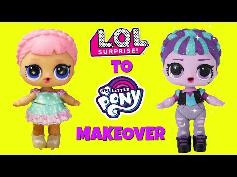 DIY Custom Ice Sk8er To Starlight Glimmer LOL Surprise Doll My Little Pony MAKEOVER