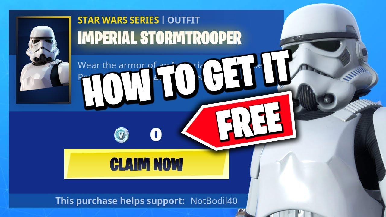 New How To Get The Stormtrooper Skin For Free Fortnite X Star Wars Trailer Promo