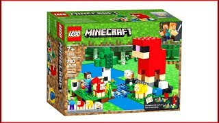 LEGO MINECRAFT 21153 The Wool Farm - UNBOXING Speed Build