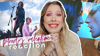 bloody valentine - machine gun kelly music video reaction! (ft. me fangirling)