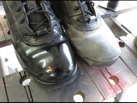 How to polish your boots in ten minutes.