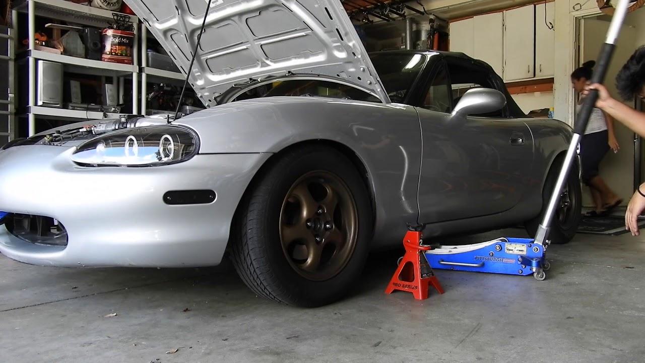 Installing Motor mounts on the Miata!