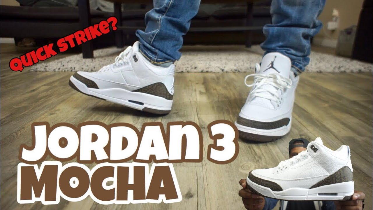 c7d95d0efeaf Early Look!! Jordan 3 Mocha On Feet!! - YouTube