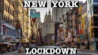 NEW YORK LOCKDOWN: EMPTY CHINATOWN & LOWER EAST SIDE GRAFFITI STREETS, NYC