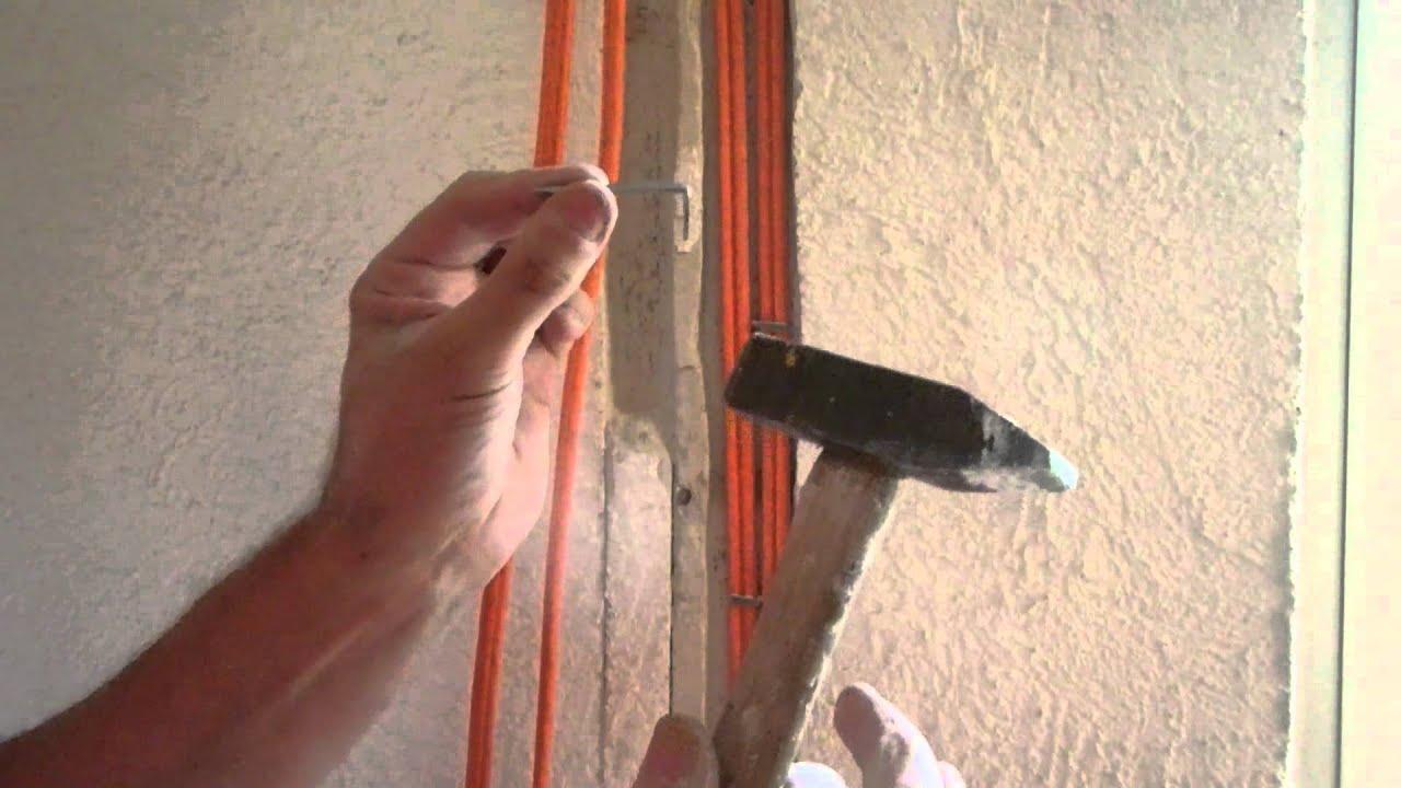 lan kabel unter putz legen im altbau youtube