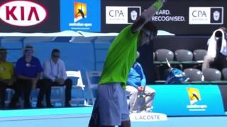 Australian Open: Ferrer racquet crunch - 2014 Australian Open