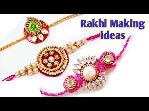 How to make Rakhi at home easily#3 beautiful Rakhi making ideas#DIY Handmade Rakhi