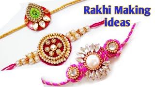 How to make Rakhi at home easily#3 beautiful Rakhi making ideas#DIY Handmade Rakhi