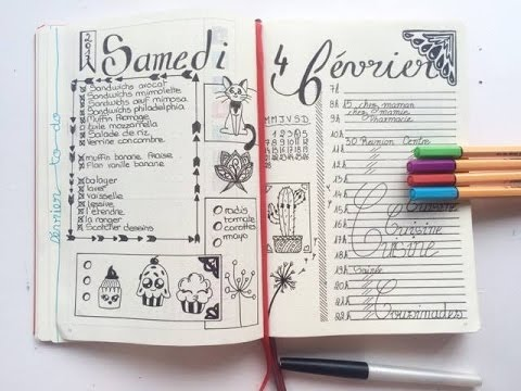 Mon bullet journal pr sentation vos id es youtube - Idee tracker bullet journal ...