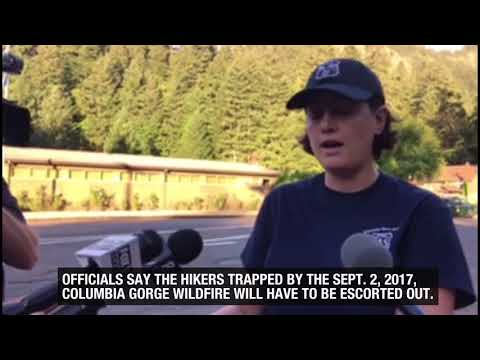 Wildfire traps 140 Columbia River Gorge hikers