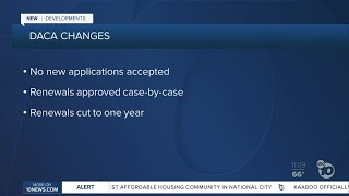 Major changes to DACA program