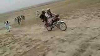 Afghanis running for empty shells