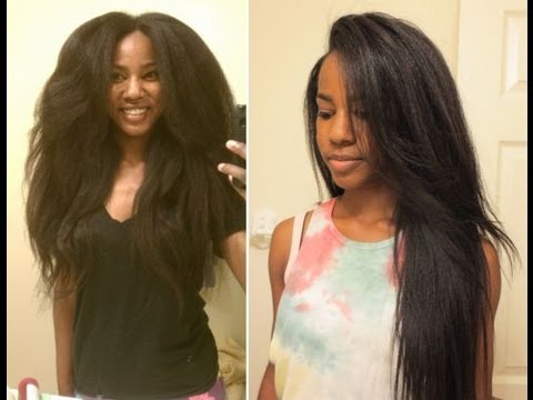 How I Straighten My Transitioning Hair Youtube