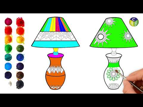 How To Draw A Table Lamps Step By Step Sayataru Creation Youtube
