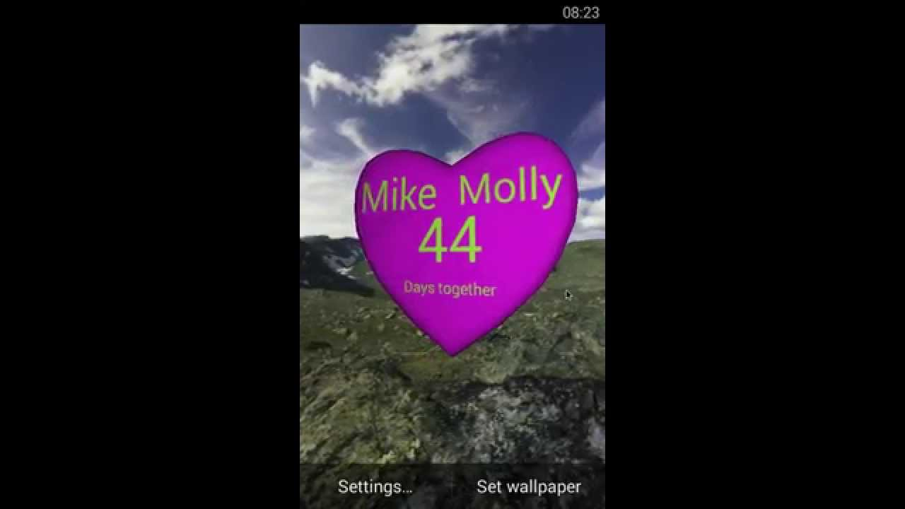3d heart love android live wallpaper - youtube