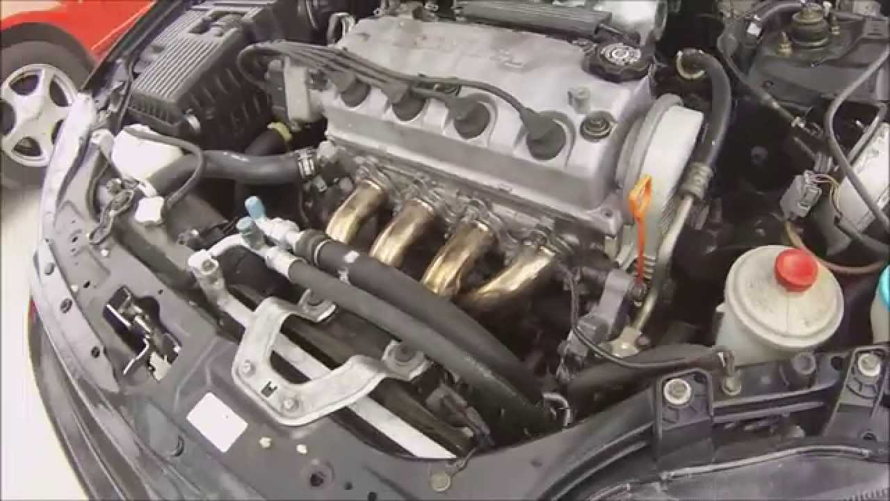 00 Honda Civic 4-2-1 Header Installad - YouTube