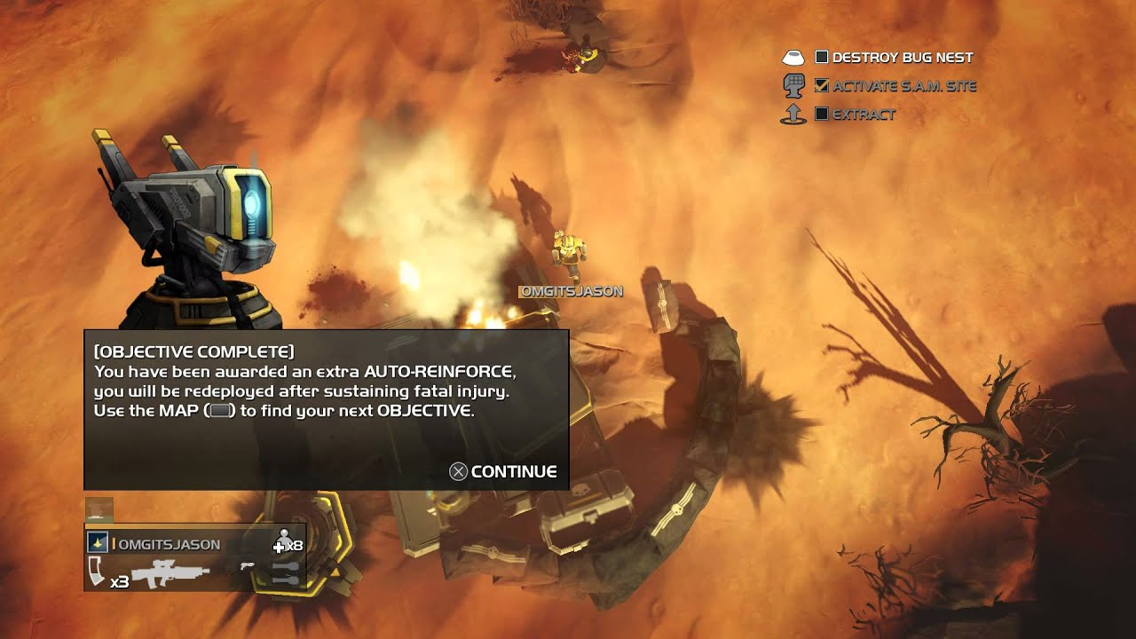 Helldivers - Locate & Complete 2 Objectives: Activate SAM Site ...