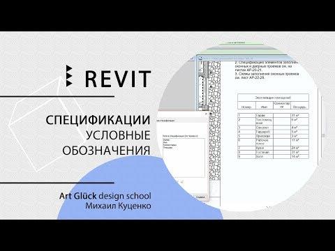 Revit. 3.8 Спецификации. Условные обозначения