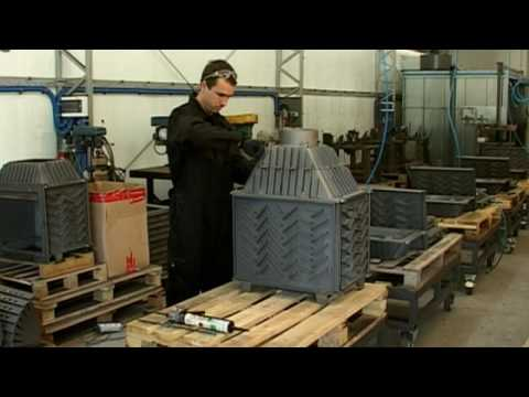 The production of the fireplace inserts from cast iron