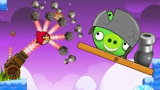 Angry Birds Cannon Collection 2 - THROW ALL STONE TO HUGE PIG!