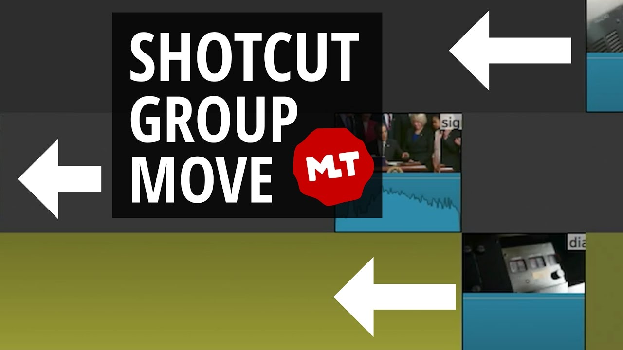 Shotcut Group Select or Move Workaround - YouTube
