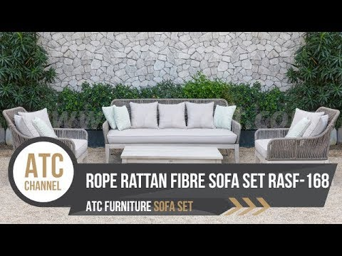 Outdoor Rope Rattan Fibre Sofa Set RASF-168 2018 | 4K video