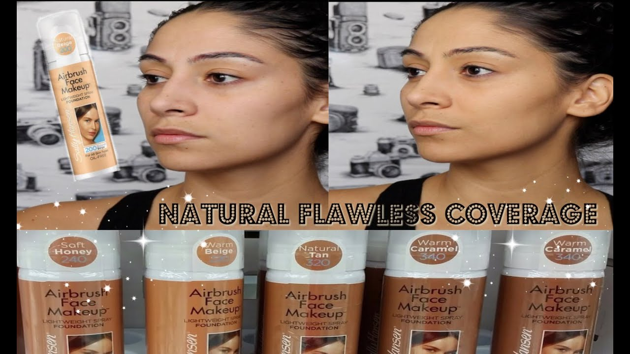 New Sally Hansen Airbrush Face Foundation Review Demo