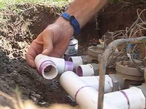 Pvc Irrigation Manifold Repair Youtube