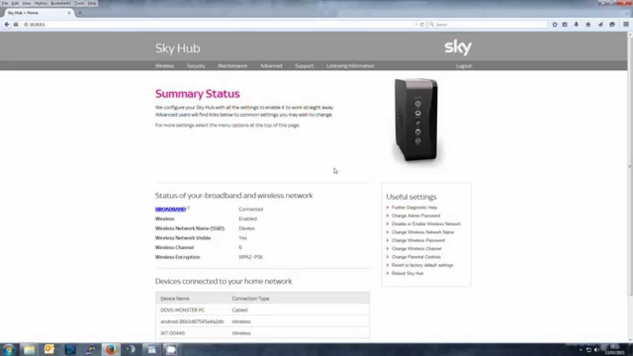 sky broadband request mac code