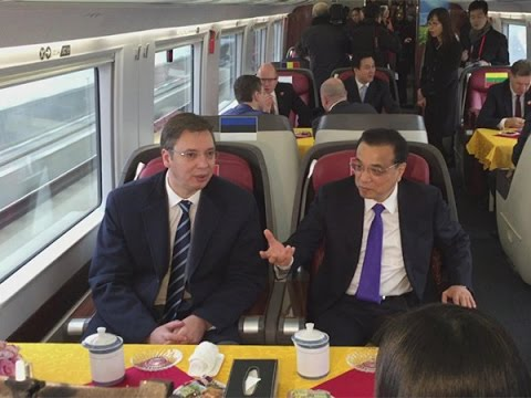 Chinese Premier Li, leaders from CEE countries take high-speed bullet train