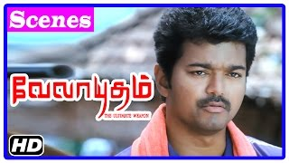 vuclip Velayudham Tamil Movie | Scenes | Vijay intro | Vijay and Saranya banned for village fare | Hansika