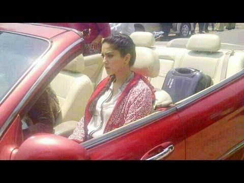 Sunny Leone 39 S Car Puncture Enroute Alibaug Youtube