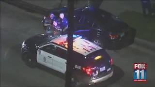 LAPD pursuing a vehicle on the 101 Fwy