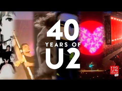 U2 - 40 years of U2 in 4 minutes #U240