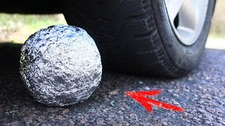 EXPERIMENT: CAR VS POLISHED ALUMINIUM FOIL BALL