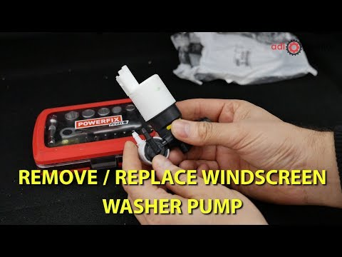 How to replace windscreen washer pump on Peugeot 307, 308 and Citroen C4