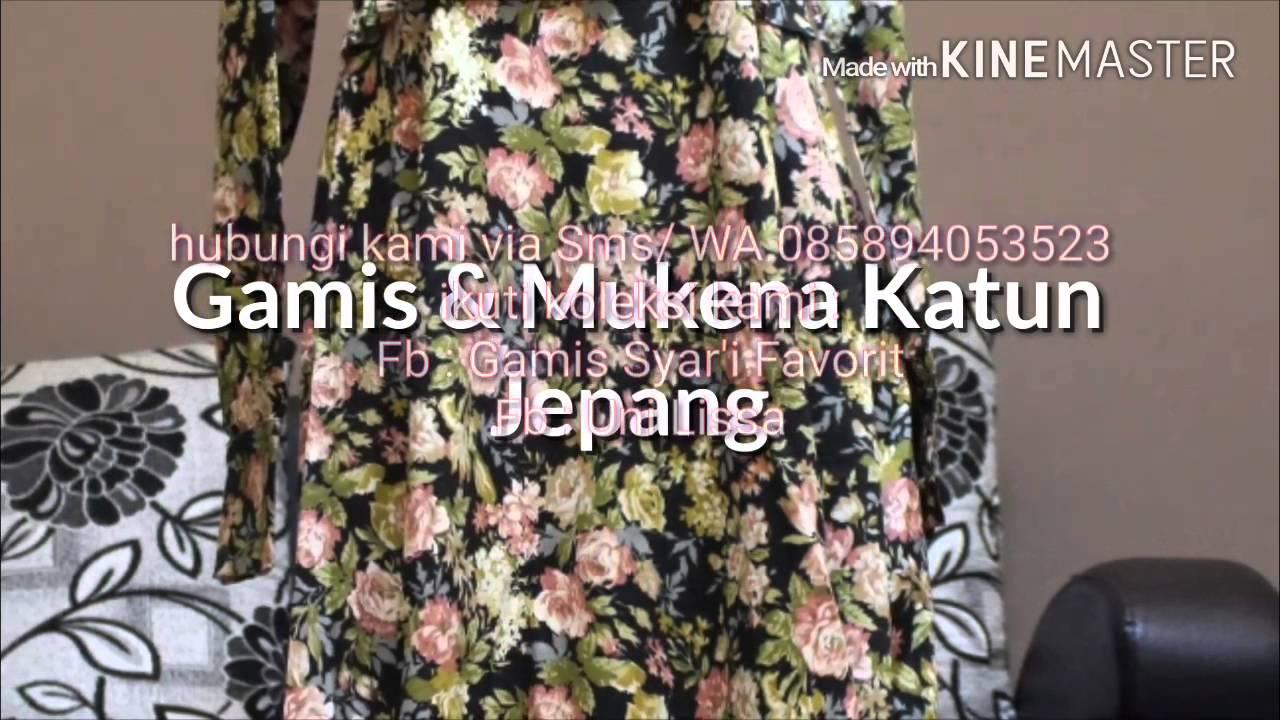 Produk Gamis Dan Mukena Katun Jepang By Lissa Malike Youtube Bouquet