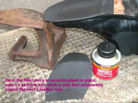 Home Diy Repair Of Shoe And Boot Soles Youtube