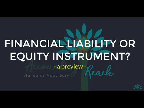 Financial Liability or Equity Instrument?